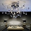 Chrome Finish Crystal Ceiling Light with 11 lights (K9 Crystal)