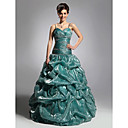 Ball Gown Spaghetti Straps Sleeveless Floor-length Fine Korean Organdy Prom Dress