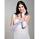 Satin Fingerless Bridal Opera Length Gloves