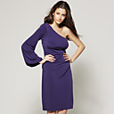 One-shoulder Long Sleeve Dress / Women's Dresses (FF-A-CC1200009)