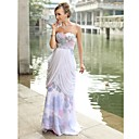 Sheath/ Column Sweetheart Floor-length Chiffon Satin Ready-to-Wear Evening/ Prom Dress