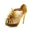 Lace Upper Stiletto Heel Pumps/ Platform With Ruffles Wedding Shoes More Colors Available