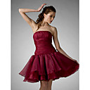 Ball Gown Strapless Knee-length Organza Cocktail/Homecoming Dress