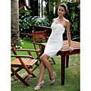 Sheath/ Column Sweetheart Short/ Mini Lace Wedding Dress