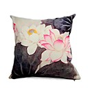 Cushion Cover-Brush Painting lotus (1422)