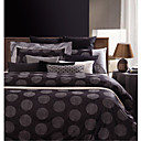 Yarn-dyed Jacquard Satin 3-piece Queen Duvet Cover Set