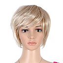 Capless Short High Quality Synthetic Blonde With Light Blonde Straight Hair Wig