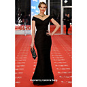 Taffeta Trumpet/ Mermaid Off-the-shoulder Floor-length Evening Dress inspired by Carolina Bang