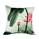 Cushion Cover-Ink Painting Lotus I
