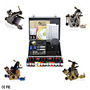 Newest Complete Set Tattoo Kits With 4 Tattoo Guns And Superior LCD Power Supply
