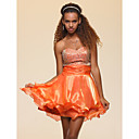 A-line Sweetheart Short/ Mini Tiered Organza Cocktail Dress