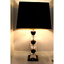 Crystal Table Light with Black Fabric Lampshade in Square (E27 Bulb Base)