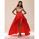 Sheath/Column Sweetheart Asymmetrical Sweep/Brush Train Sequined Evening Dress