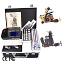 Tattoo Kit Set with 2 Guns LCD Power and 54 Color Ink