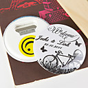 Personalized Bottle Opener/Fridge Magnet - Bicycle and Butterfly (set of 12)