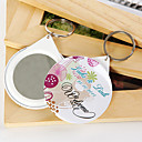 Personalized Mirror Key Ring - Colorful Flower (set of 12)