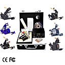 Professional Tattoo Kit With 6 Guns and Dual LCD Power