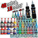 52 Bottles of Tattoo Ink / 40*5mL, 10*15mL, 1*30 mL and 1*60mL