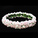 Lovely Pink Paper Flower Wedding Flower Girl Wreath/ Headpiece