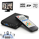 250GB Built-in HDD Multi-Media Player with Remote Control