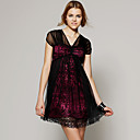 TS Magenta Lace Babydoll Dress/ Inspired by Celebrity Style