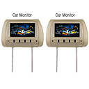 7 Inch TFT LCD Screen Headrest Monitor (1 Pair)