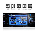De 4,3 pulgadas 1DIN coches reproductor de DVD con GPS bluetooth tv rds