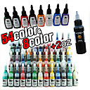 63 Bottles of Tattoo Ink/54*5ml,8*15ml and 1*2oz