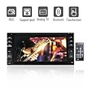 pantalla tctil de 6.2 pulgadas 2 din para coche DVD TV y el apoyo bluetooth ipod (szc409)