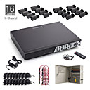 16CH CCTV Kit + 16pcs 20M Black Waterproof Camera + 1TB HDD