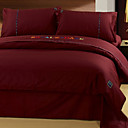 Shadow Burgundy 4-piece Queen-size Duvet Cover set