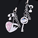 """Key to my heart"" Cell Phone Charms (set of 6 pairs)"