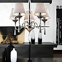40W Modern Crystal Chandelier with 5 Lights - Fabric Lampshade