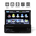 7 pulgadas de pantalla tctil digital de 1DIN coches reproductor de DVD con Bluetooth pip tv