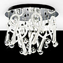 Modern Crystal Flush Mount with 10 Lights in Round