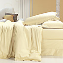Egyptian Cotton 1000 Tread Count 4-piece Queen-size Duvet Cover Set (Ivory)