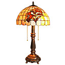 Antique Inspired Tiffany Style Table Light - Floral Patterned