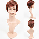 Capless Short Straight Auburn 100% Human Hair Wig