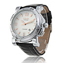 Leather Band Mechanical Wrist Watch For Men