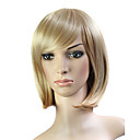 Capless Short 100% Japanese Kanekalon Fiber Light Brown Straight Hair Wig