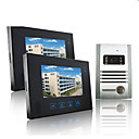Wired Intercom 7 Inch Touch Screen Video Door Phone with Metal Camera (1 Camera To 2 Monitors)