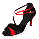 High Quality Satin Upper High Heel Latin Dance Shoes Ballroom Shoes for Women More Colors