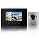 bedrade intercom 7 inch touch screen video deurtelefoon met abs camera (een camera op een monitor)