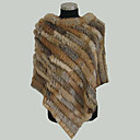 Rabbit Fur Poncho Shawl