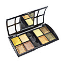 Soft Shimmer 8 Colors Eye Shadow with Free Brush (Gold Series)
