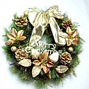 40CM Gold Pinecone Christmas Wreath