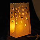 Moon & Star Shaped Cut-out Paper Luminary (Set of 4)
