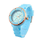 Marvelous Ladies' Quartz Movement Silicone With Round Shape Wrist Watch(More Colors)
