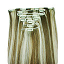 "100% menselijk remy hair 20 ""clips in hair extensions"
