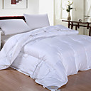 Twin/Full/Queen-size Solid Percale Satin 300 Thread Count Down Comforter